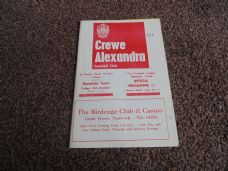 Crewe Alexandra v Mansfield Town, 1968/69